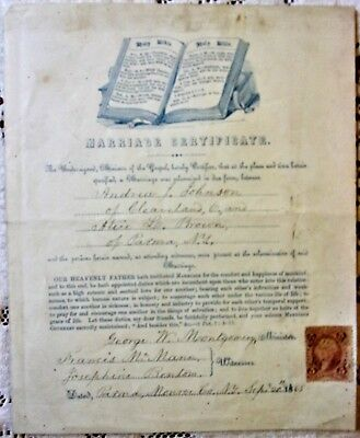 1865 Parma, Monroe County, NY * Marriage Certificate