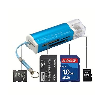 USB 2.0 Multi in ONE Memory Card Reader for Micro SD/TF M2 MS Duo MMC SDHC DV US
