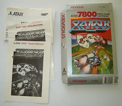 Atari 7800 Xevious Box and manuals only