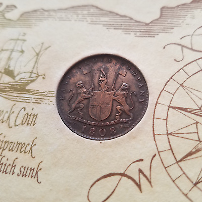1808 East India Company Copper Coin from Admiral Gardner Shipwreck in 1809