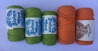 Vintage Macrame Cord 5 New Rolls Elefant Cord 50 yds each