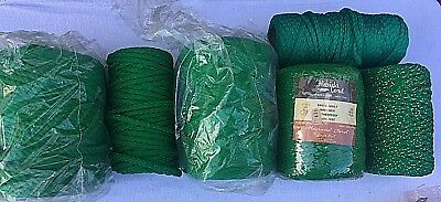 Vintage Macrame Cord Green Mixed Lot