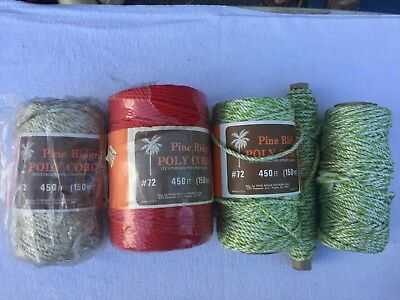 Vintage Macrame Cord Poly Cord Pine Ridge mixed lot