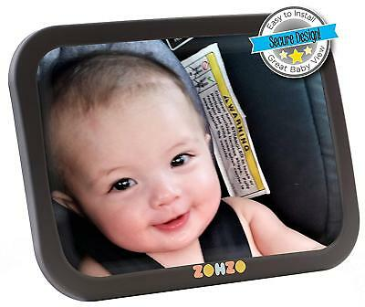 Baby Car Mirror for Back Seat Securely Fasten With Double Strap Pivot Joint