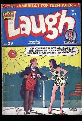 Laugh #29 Comic Book Early Archie!! Rare  1949 Vintage Golden Age G/vg