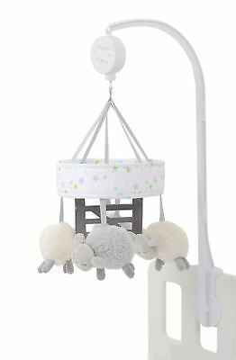 Silver Cloud COUNTING SHEEP COT MOBILE Baby Child Musical Toy - NEW