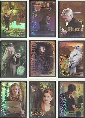 Harry Potter And The Half Blood Prince Complete 9 Card Foil Puzzle Set