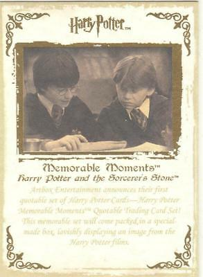 Harry Potter Memorable Moments Promo Card #1