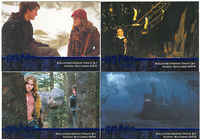 Harry Potter Prisoner Of Azkaban Update Complete 4 Card Blue Foil Promo Set