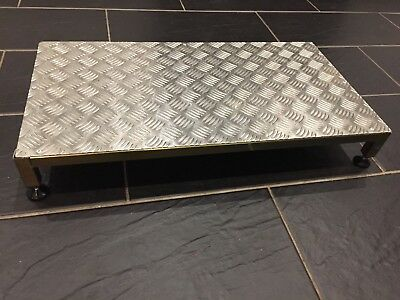 "Mobility Chequer Plate Half Step Bariable Height 30"" X 16"" Heavy Duty"