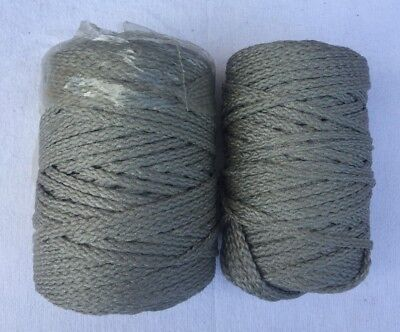 Vintage Macrame Cord Grey Lot of 2