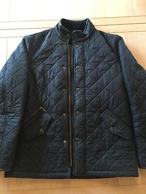 Barbour Powell Men's Quilted Jacket - Size Small, Colour Black