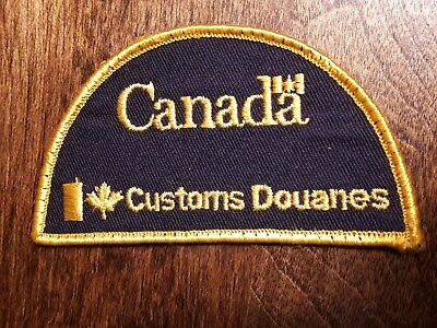 Vintage Patch Canada Customs Douanes Crest Half Moon Style