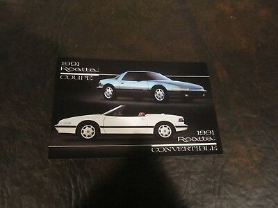 Buick Motor Division Dealer Postcards 1991 Skylark Regal Reatta Convertible Rivi