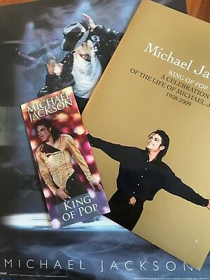 "Michael Jackson ""THIS IS IT"" ticket and programme + exclusive lenticular poster"