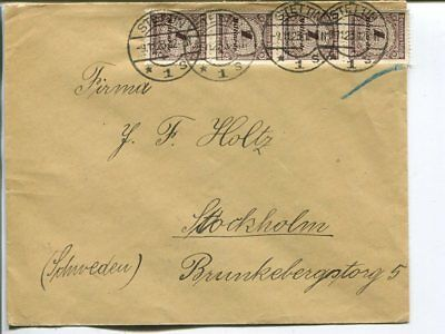 Germany infla cover to Sweden 9.11.1923
