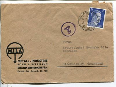 Germany censor cover to Sweden 1943