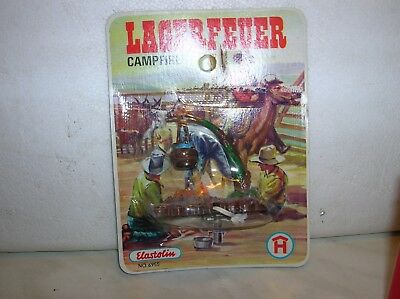 Elastolin-Lagerfeuer Camp Fire -Mib-Blister Not Opened- Good Conditions