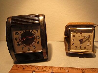 2 Vintage Travel Alarm Clocks, Westclock & Seth Thomas