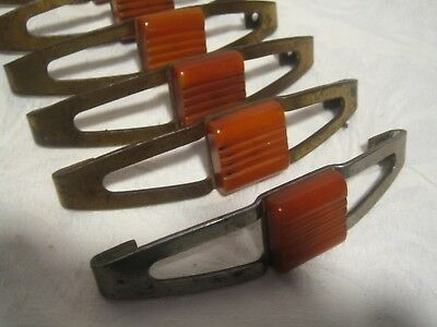 6 Vintage Antique Art Deco Drawer Handles Bakelite