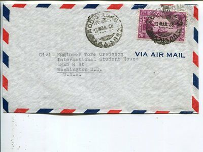 Ethiopia air mail cover to USA 1948