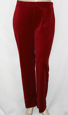 Basic Editions by K-Mart Velour Casual Lounge Soft Comfort Pants Red//Burgundy
