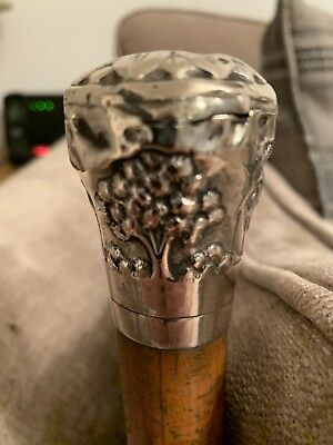 Antique 19th century Chinese Sterling Silver Swagger Stick