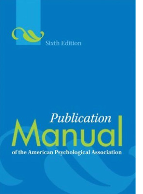 NEW [PDF] Publication Manual of the American Psychological Association 6th