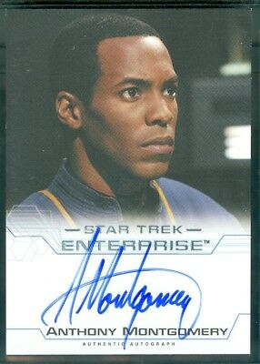 Star Trek Enterprise Season 4  Anthony Montgomery as En Mayweathe Autograph Card