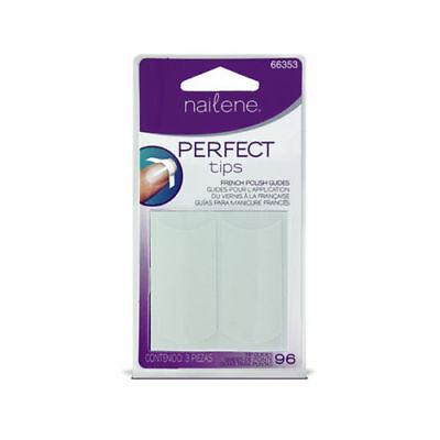 1 Pack Of 96 Nailene Perfect Tips French Manicure Polish Nail Guides
