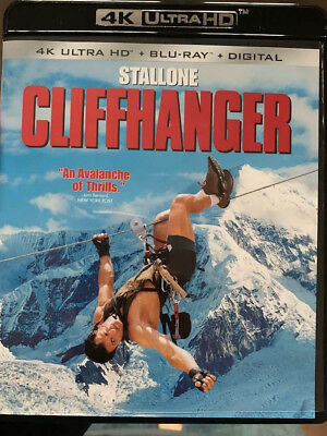 Cliffhanger 4K Blu-Ray No Blu-Ray/Digital/Slip Like New FAST FREE Combine SHIP