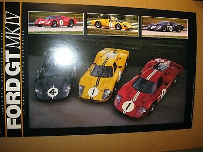 1967 Ford GT MK IV poster 20th anniversary Lemans / Sebring wins Stauffer
