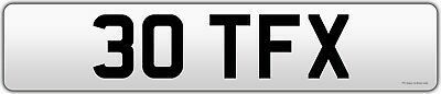 30TFX cherished number plate private plate Trade FX short dateless