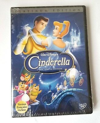 Disney Platinum Special Edition Cinderella Animated DVD 2 Disc French English