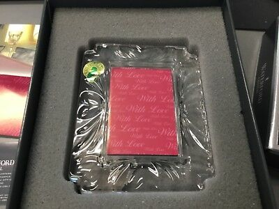 """Waterford Crystal """"With Love"""" 2 X 3 Picture Frame New in Box with all packaging"""