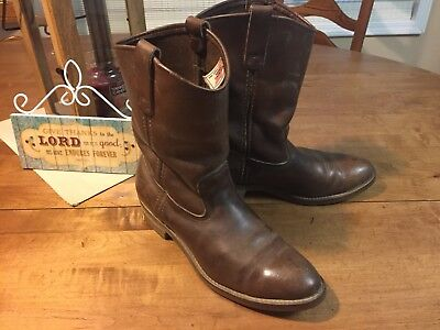 52f35caf6e7 RED WING 1155 Nailseat Brown Leather Western Work Vintage Boots Men 10.5 B