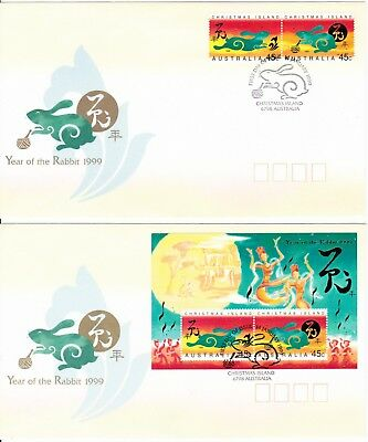 1999 - Christmas Island - Year of The Rabbit  - FDC