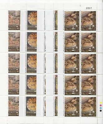Jordan - 2007 - Petra - 5 different minisheets of 10 stamps - MNH
