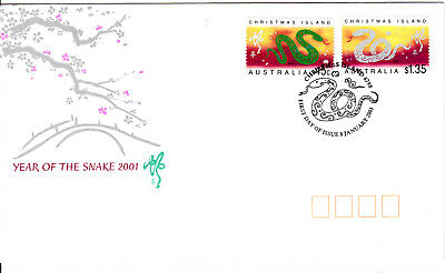 2001 - Christmas Island - Year of the Snake  - FDC