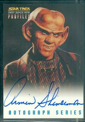 Star Trek DS9 Profiles  Armin Shimmerman Autograph Card
