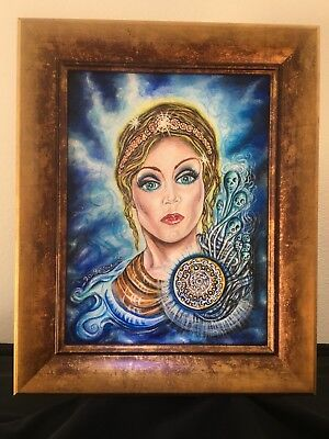 """Original Art E.Edwards  """"Pandora's Box, the all gifted"""" Hand Painted OOAK,"""
