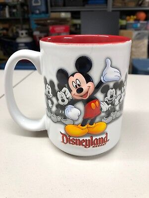 Authentic Disney Parks Disneyland Resort Mickey Mouse 3D Embossed Coffee Mug Cup