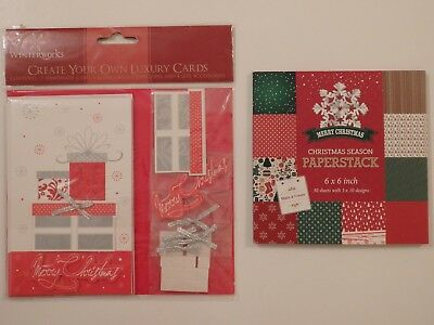 """Create Your Own Xmas Cards or Christmas Season Paperstack 6"""" x 6"""" (Choice of 2)"""