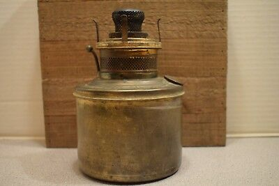 Antique Brass Kerosene Oil Lamp Font And Burner - Nail City Stamping - 4 3/4""