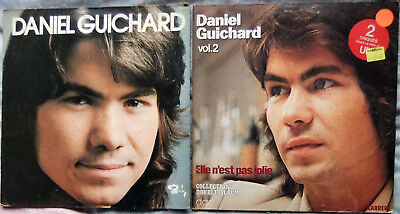 2 French Vinyl LPs by Daniel Guichard