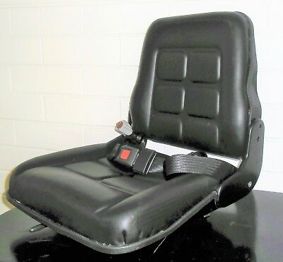 New Forklift / Bobcat / Tractor / Loader Seat -  Multi Adjustable With Seat Belt