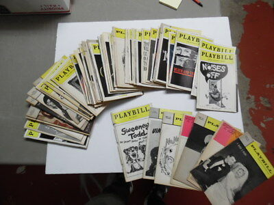 Vintage Broadway Theatre Playbill Lot of 60 Vintage Evita Chorus Line Lenny More