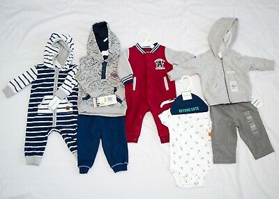 Infant Baby Boy Clothes Lot Size 3-6 Months One-piece Carters & other