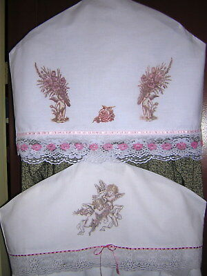 CUPID VALENTINE GIFT! Victorian Hanger Dust Covers from Vintage Pillowcases NEW