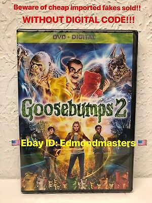 Goosebumps 2 Dvd 2019 New! Buyer Beware Of Cheap Imported Fakes Without Digital)